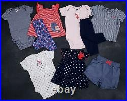Baby Girl Newborn 0-3 Months 34pc Lot Bodysuits Pants Sleepers Clothes Lot