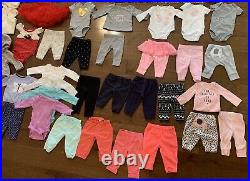 Baby Girl's LOT OF 150 Clothes/Outfits/Dresses Size Newborn/0-3 Months/3 Months