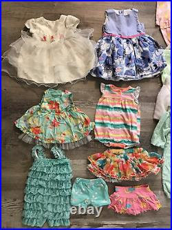 Baby Girls 0-6 Months Clothing Lot Of 59 Dress One Piece Pants Jean Jacket PJ