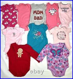 Baby Girls Clothing Lot 0-6 Months 122 Pieces Gerber Carter Okie Dokie Garanimal