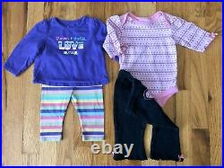 Baby Girls Clothing Lot Of 27 Pieces Size 3-6 Month Fall/Winter Sleepers Outfits