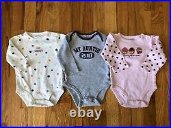 Baby Girls Clothing Lot Of 29 Pieces Size 6 Months Fall/Winter Sleepers Outfits