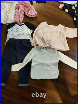 Baby Girls Size 12, 6-9 Months Fall/ Winter Clothes jackets sweaters Lot of 70+