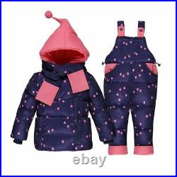 Baby Girls Winter Coats Kid Down Snow Wear Overalls Clothing Jumpsuit Snowsuit