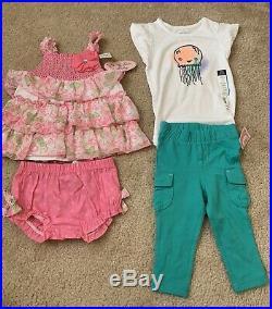 Baby Infant Girls HUGE Clothing Lot 40 Size 12/18/24 Month Old Navy Dresses Sets