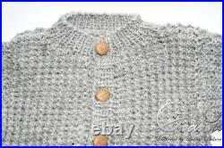 Baby Newborn Todddler Clothes Kid Hand Made Set 2 Wool Knit Knitting New 0-3