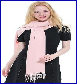 Baby Pink High Grade 100% Cashmere Shawl Pashmina Hand Made in Nepal CJ Apparel