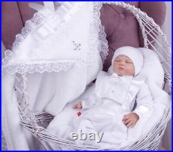 Baby boy baptism outfit, bodysuit hat and blanket, baptism clothes baby boy