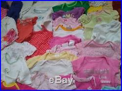 Baby girl clothes Nb-3 months winter/ summer Lot of 105 items diffe brand names