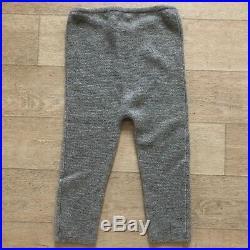 Bonpoint Cashmere Leggings Pants Baby Girl 12 months Gray Melange NWT