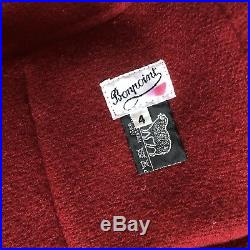Bonpoint Red Wool Toggle Coat Childrens Size 4