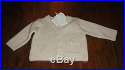 Boutique Nwt New Marie Chantal Cashmere Cardigan 6m 6 Months $$$$