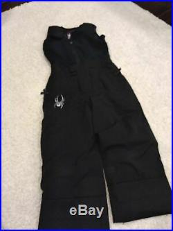 Boys 3T Spyder Ski Jacket and Pants Mini guard Expedition EUC Black Blue