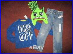 Boys Huge Size 4 4T Fall Winter School Lot of CLOTHES & OUTFITS OLD NAVY NEW