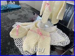 Brand New 4 Pieces vintage newborn baby clothes Handmade Custom Designs