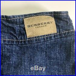 Burberry Authentic Toddler Denim Jacket Skirt 2 Piece Set Size 2T