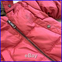 Burberry Baby Down Puffer Size 9 Months Skylar Bunting Camelia Pink One Piece