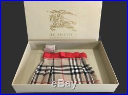 Burberry Baby Girl 6 Month Nova Check Wrap Kilt Skirt Wool Blend