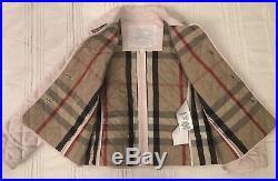 Burberry Children Girl Quilted Designer Coat Jacket Size 3Y (98CM) Pink