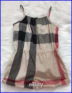 Burberry Children Infant Baby Girl Nova Check Dress And Romper Size 12 Months
