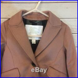Burberry Coat Jacket Size 2T 24 Months Cashmere Peacoat Plaid Lining Winter Pink