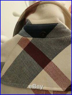 Burberry Kids Girls Sz 3T 3Y 98cm nova check Jacket Pea toggle Trench Coat
