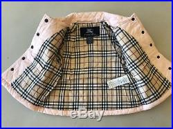 Burberry Light Pink Check Kids Infant Baby Girl Coat Jacket 18 M Authentic
