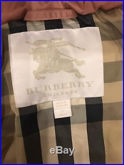 Burberry Mini Bronwyn Down Puffer Jacket Pale Rose Toddler 3 Years 3T
