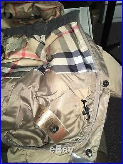 Burberry Snowsuit Beige check size cm 67cm 6 Months Winter Outerwear