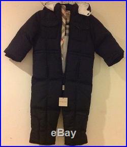 Burberry boys/girls black down winter snowsuit size 3T years