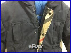Burberry toddler boys size 3 reversible winter jacket