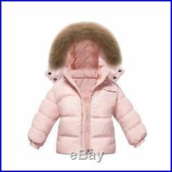 CARETOO Baby Boys Girls Winter Down Coats Snowsuit Outerwear 2Pcs Clothes Hoo