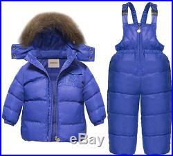 CARETOO Baby Boys Girls Winter Down Coats Snowsuit Outerwear 2Pcs Clothes Hooded