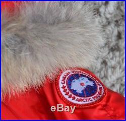 Canada Goose Baby Boy Or Girl Designer Raccoon Fur Down Filled Coat 1 Year Excon