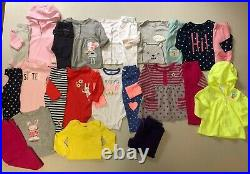 Carter's LOT size 12 months Baby Girl Clothes Outfits Tops Pants Bodysuits