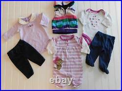 Carters Baby Girl NEWBORN Winter Clothes Shirts Pants Romper Bodysuit Lot Reborn