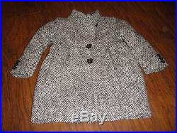 Crewcuts Girls 3 3t Gorgeous Black Tweed Coat Wool