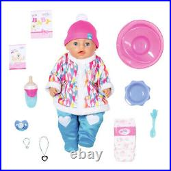Doll Baby Born Soft Touch Blue Eyeswith Winter Clothes Zapf #831281