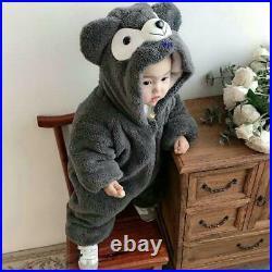 Duffy Rompers Baby Winter Hood Kids Children'S Clothing Deep Grey
