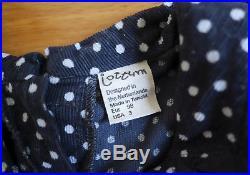 EUC Jottum Girls Polka Dot Corduroy Dress Size 98 (US 3)