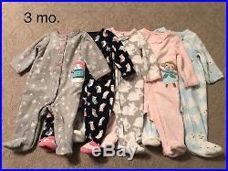 EUC Lot Baby Girl Infant Clothes Newborn, 0-3 & 3 Months Disney, Carters + more
