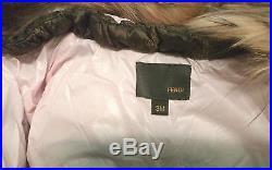 Fendi Children Infant Kids Boys/girls Unisex Hooded Puffer Jacket Size 3 Months