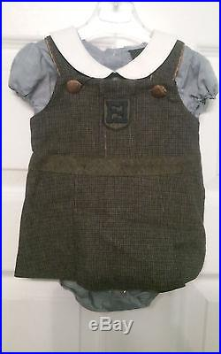 Fendi Children Infant Kids Girls Check Dress Size 3 Months