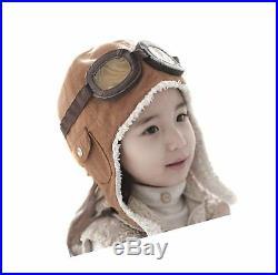 Genius Baby Children Winter Earflap Pilot Cap Aviator Hat Beanie Flight Helmet