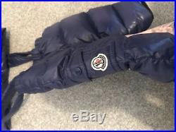 Genuine Moncler Designer Baby Boys Blue 2pc Snowsuit 3-6