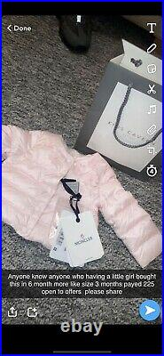 Genuine baby girl moncler coat Never Been Worn Quite Small Sizing