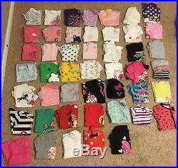 Girls 3t 4t LOT OF 184 pants, shirts, shorts, dresses, pajamas Carters, disney
