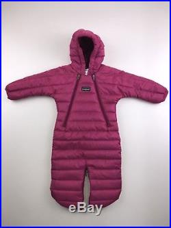 Girls Baby Infant Patagonia Down Sweater Bunting Snow Winter Size 0 Months Pink