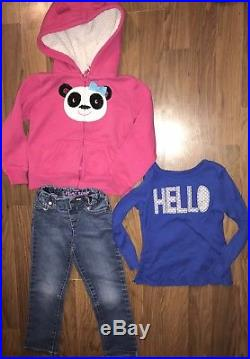 Girls Fall Winter Clothes Jeans Sweaters Dresses Sz 3T/4T Lot Of 38