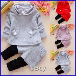 Girls Toddler Kids Baby Outfits Clothes T-shirt Tops Dress Long Pants 2PCS Sets